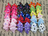 New design polka dot printed ribbon hair bows for children hair accessories, boutique bows WITH CLIP for baby girls IN STOCK
