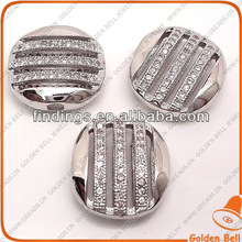 pave zirconia round connector,micro pave jewelry,brass with 62pcs cubic zirconia beads BJ4557