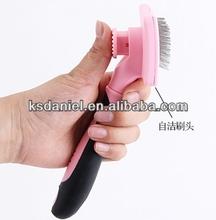 Self clean Silicone Handle Slicker Pet Brush