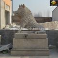 Pedra natural figuras de animais ao ar livre estátuas do jardim