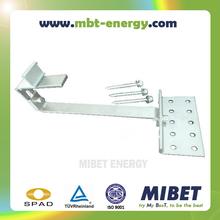 Adjustable Flat Tile/ Plain Tile Pitched Roof Solar PV Mounting Hook -- MRac Flat Tile Interface (Adjustable) 107HA