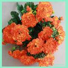 14 heads artificial marigold flower