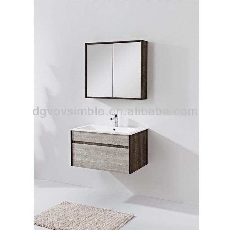 ... massief hout moderne badkamer kast marmeren balie badkamermeubels