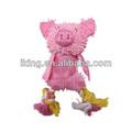 Perro de plástico del sexo de dibujos animados de la tela, Perro de la lona y cerdo de la felpa muñeca de juguete