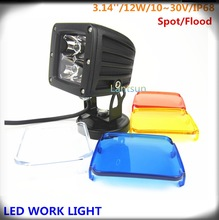 "Hot Sale!! 12V Driving Worklight 12W LED Work Light Super Bright Round LED Work Light 3"" Auto Headlight for Truck, Carne,Trailer"