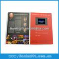 4.3 pulgadas lcd de vídeo de felicitación tarjetas de papel, tarjetas de video, de vídeo en la impresión
