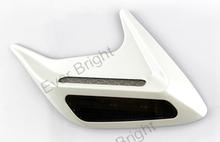 Solar Powered Car Shark Cheek LED Warning Flash Tail Light Traffic Alert Decorative Lights