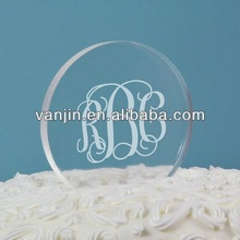 Clear Acrylic Circle Wedding Cake Toper 8221404202A