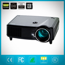 Protable Pocket Mini Game Digital LED VGA Video Projector support 1080P,Max 1500Lumens with HDMI VGA, AV,Ports