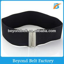 Ladies Fashion High Waist Black Elastic Stretch Cinch Belt