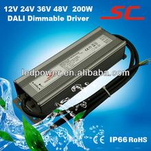 12V 24V 36V 48V 200W DALI led dimming constant voltage driver, perfect DALI led driver
