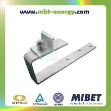 Slate/ Bitumen/ Asphalt Shigle Roof Pitched Roof Solar PV Mounting Hook -- MRac Tile Interface 75H