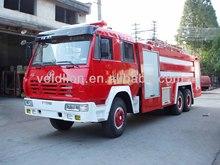 Shacman 10000 litros de água e espuma caminhões de bombeiros, Combate a incêndio caminhões