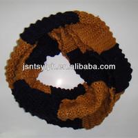Stripe unisex neck tube knitting winter scarf