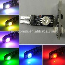 High quality 11 pattern T10 rgb led car light