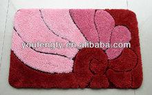 wholesale washable bath mat with anti-slip back