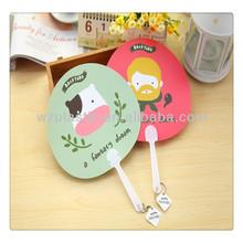 custom colorful cartoon PP fan with handle