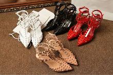 2014 Spring Summer fashion sandals high heel studs shoes