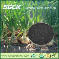 Biochar onion fertilizer from bamboo