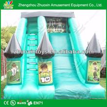 2014 European popular inflatable super slide / 18ft inflation slide