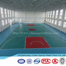 stability pvc flooring Basketball pvc sports flooring Used basketball