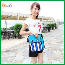 Encai New Fashion 3D Cartoon Comic Laptop Bag/2D Clutch Bag/Stocked 3D Computer Bag