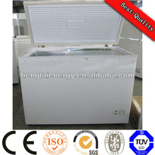 318L Low Power 72w solar power solar energy deep fridge freezer