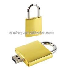 hot sales lock shaped metal usb flash drive,bulk cheap thumb drive 2gb, 4gb, 8gb,16gb usb disk, wholesale price usb memory stick
