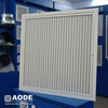 Powder-coat square hinged Half Chevron return air grille with c/w filter for home HVAC / ventilation made by China manufacturer