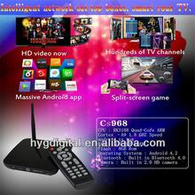 CS968 XBMC tv box custom firmware android tv box android tv box av output built-in Camera
