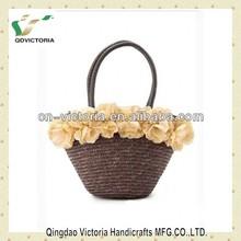 2014 Ladies' Fashion Handbag With Flower