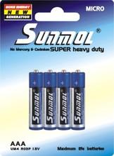 R03 AAA SUNMOL Zinc Carbon 1.5V Battery