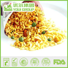 Crispy Puffed Rice Snack with Fried Green Peas, Nuts