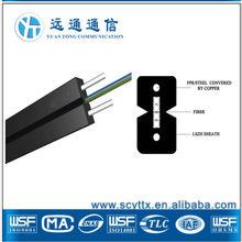 FTTH SM/MM sx/dx fiber optic cable 4 core fiber optic cable,4 core 4mm pvc cable