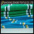 Engranzamento da tela da listra do algodão tecido piquet para t- camisas