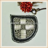 fashion beaded applique work design for dress decoration