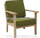 2015 new design modern solid wood ash leisure chair /sex fabric upholstery lounger chair C19-A