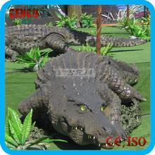 Animal theme park custom high simulation life size rubber alligators