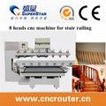 4 eixos cnc router / cnc router máquina / madeira router cnc com eixo rotativo e scanner 3d para estátua & escultura