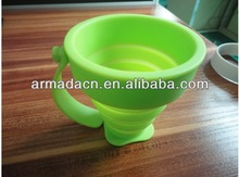 Portable Collapsible silicone cups with handle/ear