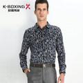 De alta calidad k- la marca del boxeo completa de algodón mercerizado de primavera de moda camisa de manga larga, nueva llegada