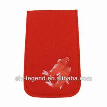 2014 100% original felt phone case for iPhone brand