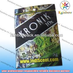 3G Aluminum foil packaging bag king kong herbal incense bags