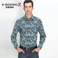 K- boxe marca de qualidade top de manga comprida de algodão longo grampeado moda tremores camisa, chegada nova