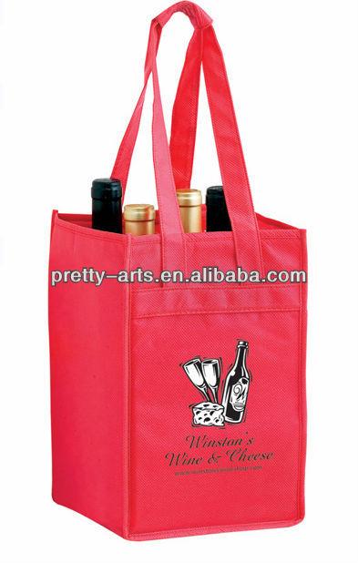 new hot sell good quality custom wine bottle bags