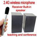 Ghz 2.4 la enseñanza conferencia micrófono inalámbrico con sistema de altavoces para el aula conferencia de interior con el uso de clip de corbata de micrófono