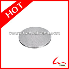 Disposable silver round foil cake board