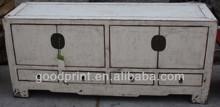 Chinese Antique Asian Furniture White Kang Cabinet