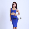 Cheap Women Fashion Royal Blue Top Skirt 2 piece Red Carpet Wear Celebrity Dress