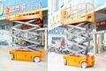 500kg capacidade de carga de elevador elétrico scissor tabela